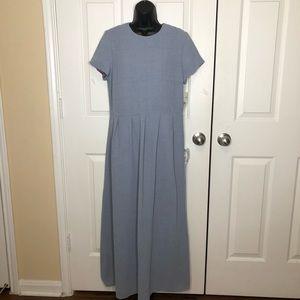 David Warren lined blue maxi dress size 12 NWT